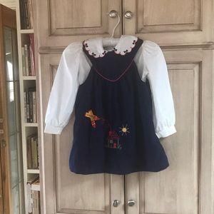 Vintage girls Hartstrings Dress sz 5 jumper